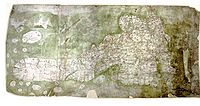 The Gough Map, a road map of 14th century Britain