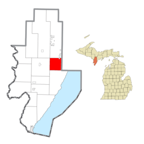 Gourley Township, MI location2.png