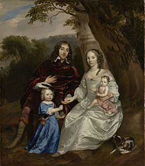 Govert van Slingelandt (1623-90), lord of Dubbeldam. With his first wife Christina van Beveren and their two sons