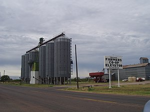 Cooperative - Grain elevators are used by agricultural cooperatives in the storage and shipping of grains.