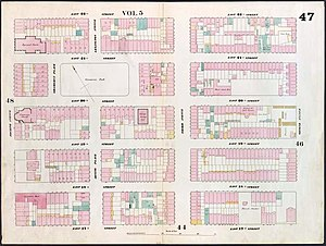Gramercy Park - An 1853 real estate map of the area around Gramercy Park