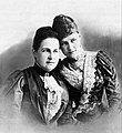 Grand Duchess Alexandra Georgievna with her mother Queen Olga.jpg