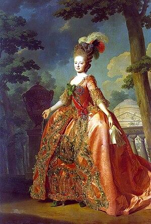 Paul I of Russia -  Maria Feodorovna, portrait by Alexander Roslin