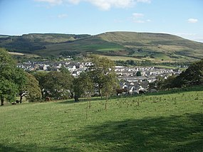 Grazing land above Caerau with a view towards Mynydd Bach - geograph.org.uk - 1505247.jpg