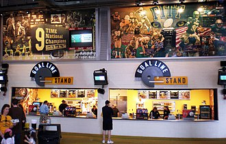 Concession stand - Image: Great Hall Pittmurals