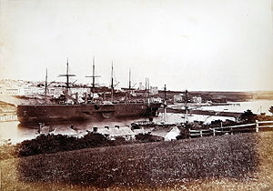 Milford Haven - The SS Great Eastern harboured in Milford Haven, 1870s