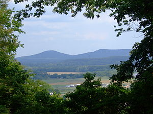 Seal of Ohio - View of Sugarloaf Mountain and Sand Hill from Adena
