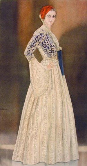 Amalia of Oldenburg - Type of Amalia dress
