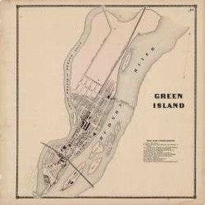 Green Island, New York - Green Island in 1866