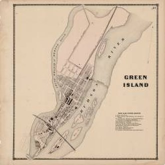 Green Island, New York - Green Island in 1866