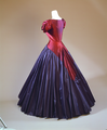 Gres evening dress, 1951. Purple and magenta shot-silk with full skirt. Shenkar Archive.tiff