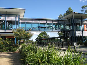 Griffith University - Griffith University busway station on the South East Busway