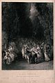 Groups of young men and women are dancing through the woods. Wellcome V0040153.jpg