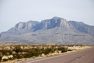 Texas State Highway 54 - Guadalupe Mountains viewed from SH 54