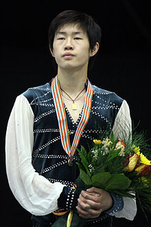 Guan Jinlin Podium 2008 Junior Worlds.jpg