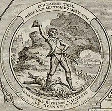 Nach Wilhelm Tell hieß 1790–1795 eine Sektion von Paris (Jean-Baptiste Marie Poisson, 1794). (Quelle: Wikimedia)