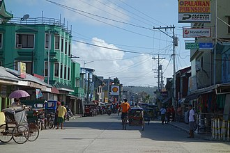 Guiuan - Lugay Street, one of the main thoroughfares in the Guiuan poblacion