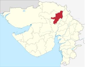 Mehsana district - Image: Gujarat Mahesana district