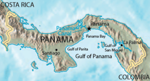 Gulf of Panama - Gulf of Panama with minor gulfs.