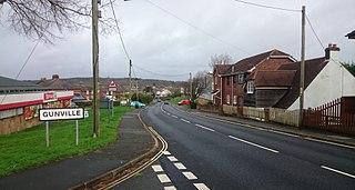 Gunville Human settlement in England