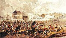 Print of the Battle of Raab