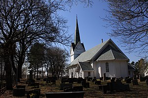 Hjalmar Welhaven - Image: Hærland church in Eidsberg municipality