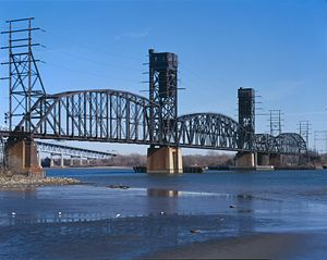 Delair Bridge - The Delair Bridge viewed from the Pennsylvania side