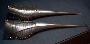 Crakow (shoe) - Sabatons of Emperor Maximilian I, c. 1485