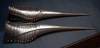 Sabaton - Image: HJRK A 62 Armoured shoes of Maximilian I, 1485