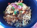 HK 大快活 Cafe de Coral Tea time 糯米飯 Glutinous Mochi Rice Nuo Mi Fan with 蔥粒 Spring Onion Jan-2012.jpg