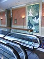 HK Island Shangri-La Hotel wall picture Made In China BACRI Swans Moon Light escalators Aug-2012.JPG