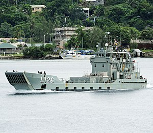 Balikpapan-class landing craft heavy - HMAS Balikpapan in 2011