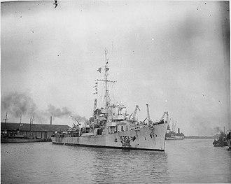 HMS Duckworth (K351) - Image: HMS Duckworth 1945 IWM A 28186