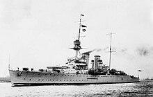 L'incrociatore Frobisher, prototipo di incrociatore pesante secondo il trattato navale di Washington