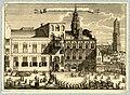 HUA-37834-Gezicht op de Stadhuisbrug te Utrecht met de huizen Klein en Groot Lichtenberg en Hasenberg en rechtsachter de huizen aan de Vismarkt en de Domtoren e.jpg