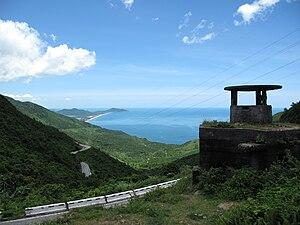 Hải Vân Pass - An overhead view of the pass