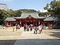 Haiden of Ikuta Shrine.JPG