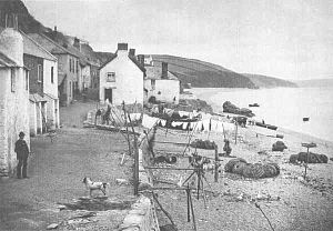 Hallsands - Hallsands in 1885.