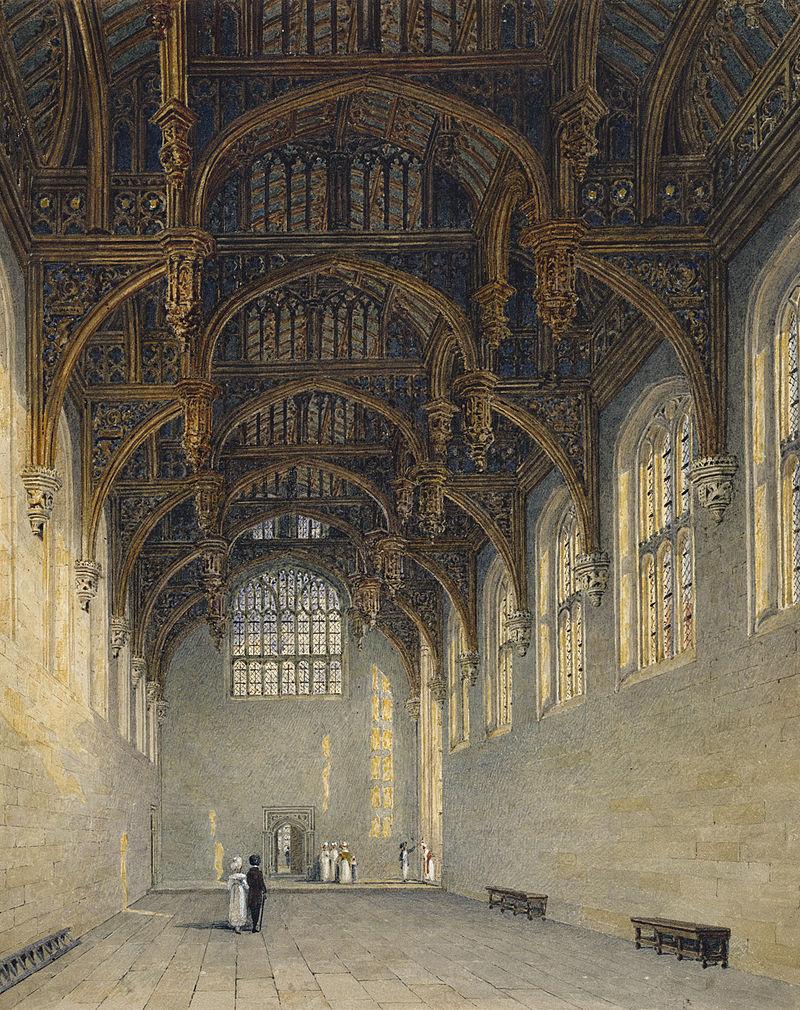 Дворец Хэмптон - Корт, Готический двор, автор Чарльз Уайлд, 1819- royal coll 922129 313701 ORI 2.jpg