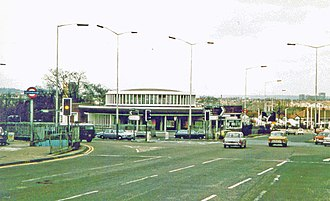 North Circular Road - The Hanger Lane Gyratory on the North Circular is one of the most congested junctions in London, carrying over 10,000 vehicles per hour.