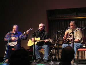 Artie Traum - From left: Happy Traum, Artie Traum, and Ed Renehan performing in Albany at The Linda WAMC's Performing Arts Studio on March 26th, 2008. Photo by Jane Traum.