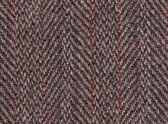 Tweed (cloth) - Harris Tweed woven in a herringbone twill pattern, mid-20th century
