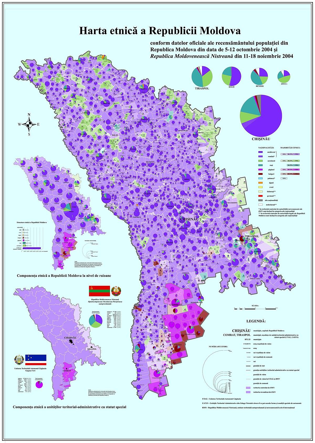 Fișier:Harta etnica a Republicii Moldova - 2004.jpg - Wikipedia