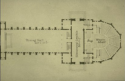 Memorial Hall (Harvard University) - Wikipedia on jefferson theater map, hudson theater map, moore theater map, king theater map, lake theater map, stranahan theater map, fisher theater map, wynn theater map,