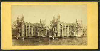 Gore Hall (Harvard College library) - Stereoscopic image