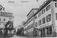 Old postcard of Schlossberg in Heidelberg, where Hannah lived