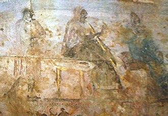 Hecatomnus - Hekatomnos tomb fresco.