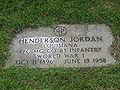 Henderson Jordan grave marker IMG 0776.JPG