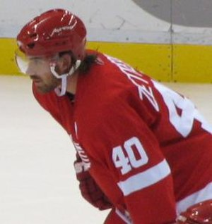 Henrik Zetterberg - Zetterberg during a break in the action in 2006