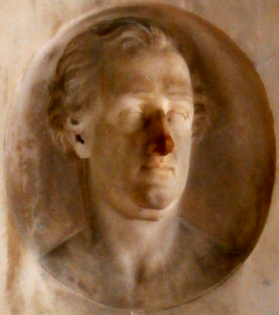 Henry Frederick Carteret, 1st Baron Carteret (1735-1826), detail from his mural monument in Kilkhampton Church, Cornwall HenryThynne BaronCarteret KilkhamptonChurch Cornwall.PNG